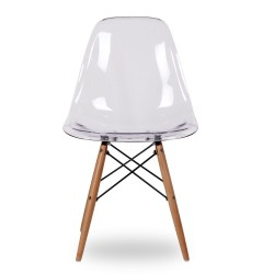 SILLA EAMES DSW STYLE CLEAR