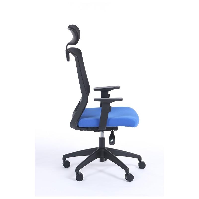 Silla de oficina con reposacabezas scott castilla for Sillas de oficina comodas