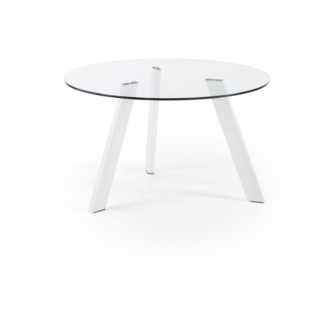 Mesa reuniones circular cristal 130