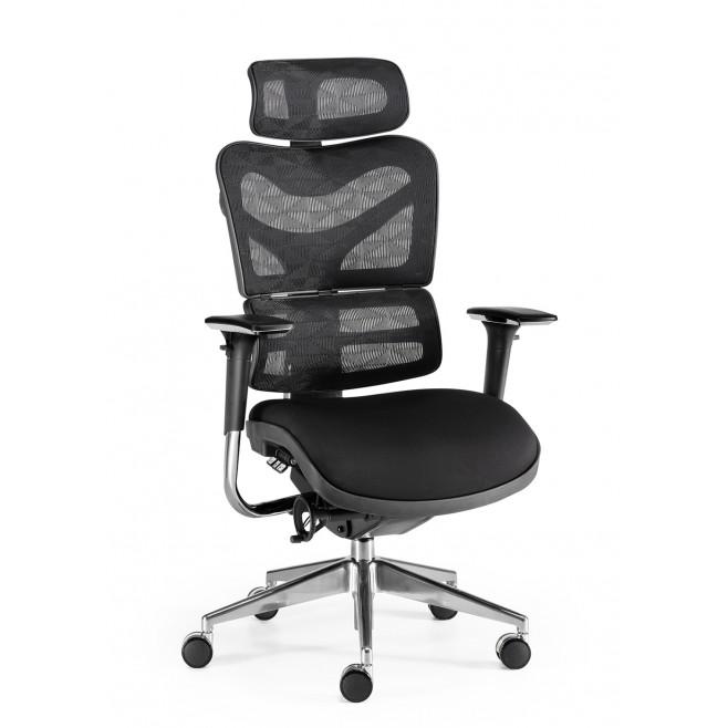 Silla de oficina ergon mica modelo ergostone for Sillas cajeras ergonomicas