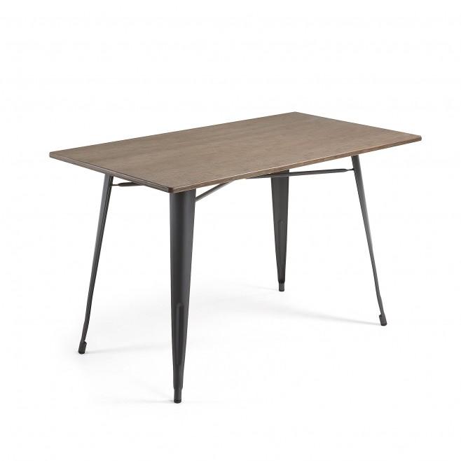 Mesa metal y madera 150x80. Modelo MALIBU grafito