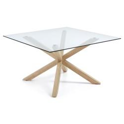 Mesa de reuniones cuadrada cristal Modelo ARYA 149X149 cm
