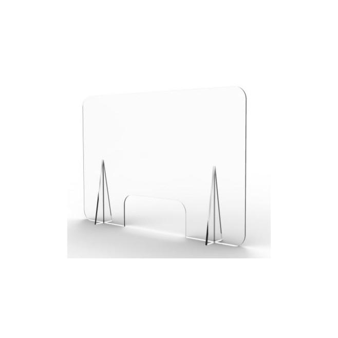 Mampara mostrador CON ventanilla