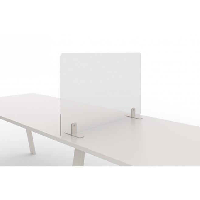 Mampara protectora cristal templado lateral mesa de oficina