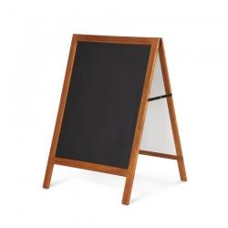 Pizarra negra caballete marco madera