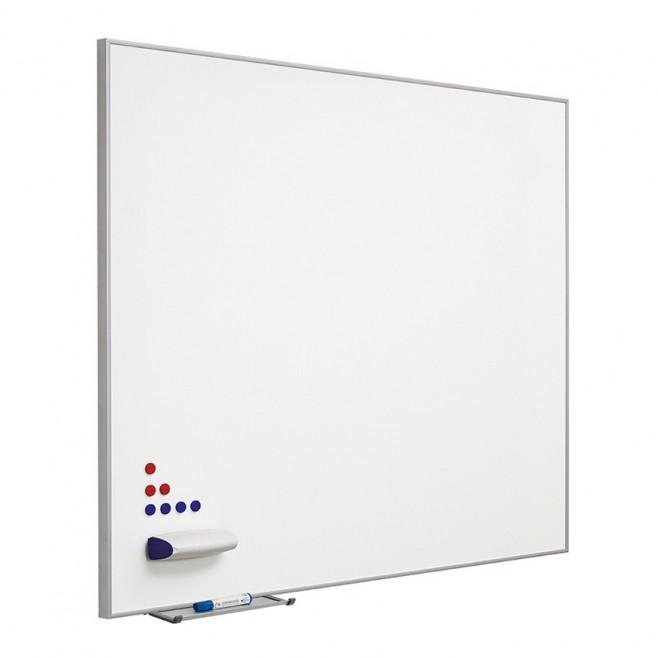 "Pizarra lacada blanca marco aluminio ""mini"" 100 x 175 cm."