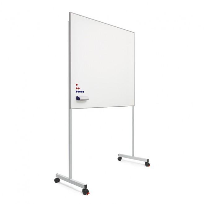 "Pizarra blanca A. Vitrificado marco mini 100 x 80 cm. + soporte ""T""."
