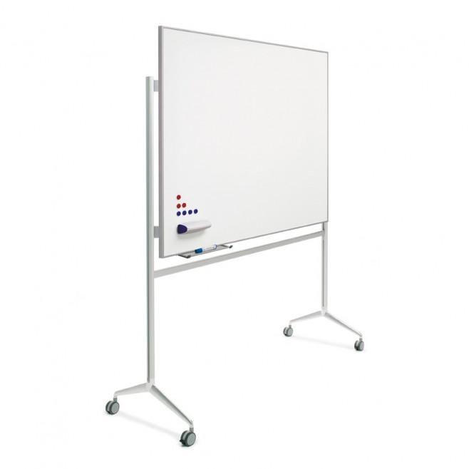 Pizarra blanca A. Vitrificado marco mini 100 x 120 cm. + soporte Y2.