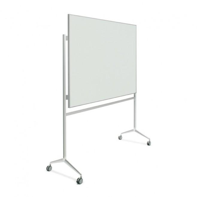 Pizarra cristal marco mini con soporte Y2 de 100 x 120 cm.