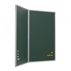 Pizarra Díptica Verde Acero Vitrificado 120 x 180 cm.