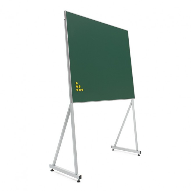 Pizarra verde Acero vitrificado marco mini 100 x 150 cm + soporte delta