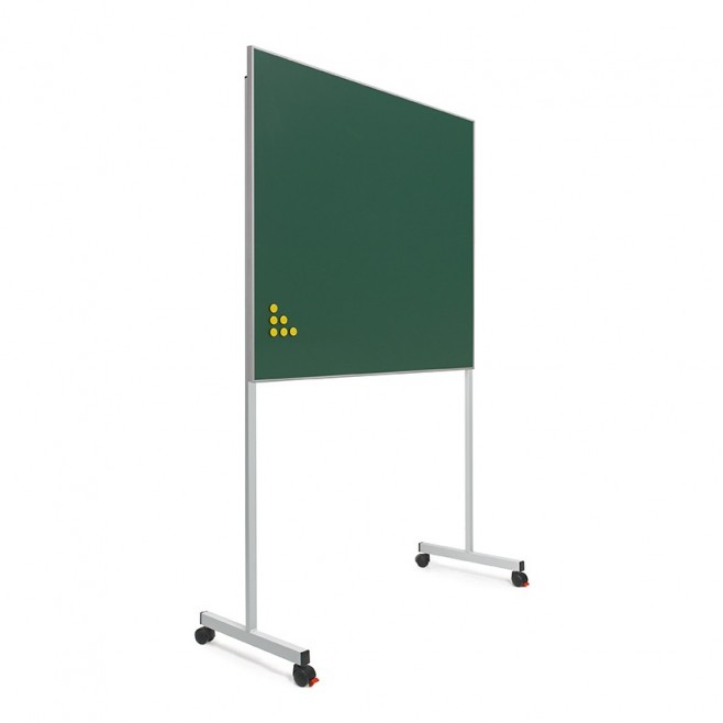 Pizarra verde Acero vitrificado marco mini 100 x 120 cm + soporte T