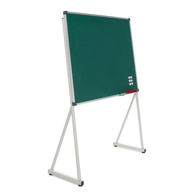 """Pizarra Acero Verde Soporte """"Delta"""" 120 x 150 cm."""