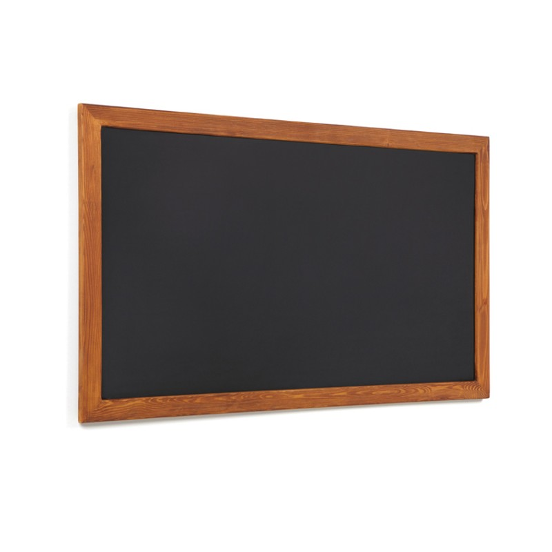 Basic.Pizarra negra marco madera 50 x 100 cm. - Castilla Instalacion