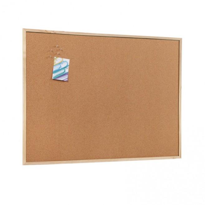 Basic. Tablero de corcho marco pino 90 x 120 cm. (6 unidades)