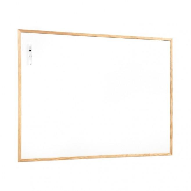 Basic. Pizarra blanca marco pino 60 x 90 cm. (10 unidades)