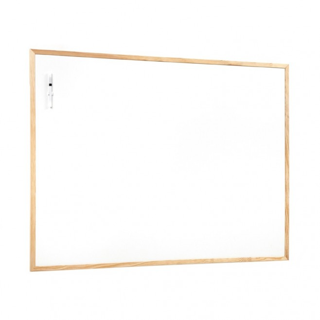 Basic. Pizarra blanca marco pino 90 x 120 cm. ( 6 unidades)