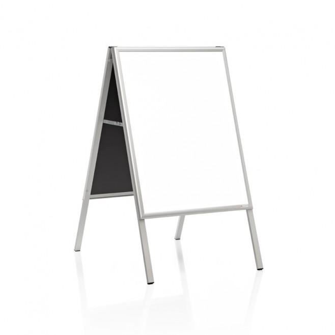 """Caballete """"delta"""" Pizarra laminada blanca doble cara 50 x 70 cm."""