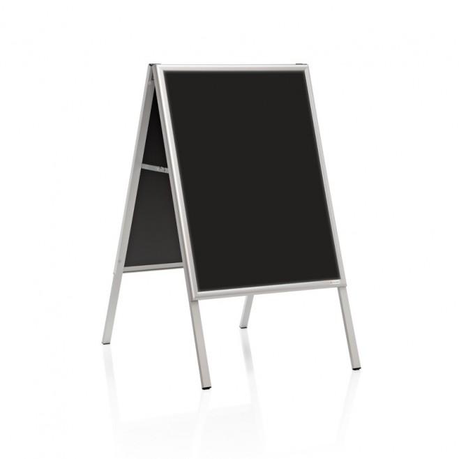 """Caballete """"delta"""" Pizarra laminada negra doble cara 50 x 70 cm."""