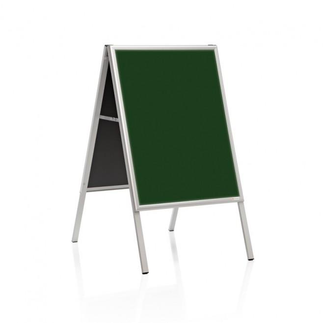 """Caballete """"delta"""" Pizarra laminada verde doble cara 50 x 70 cm."""