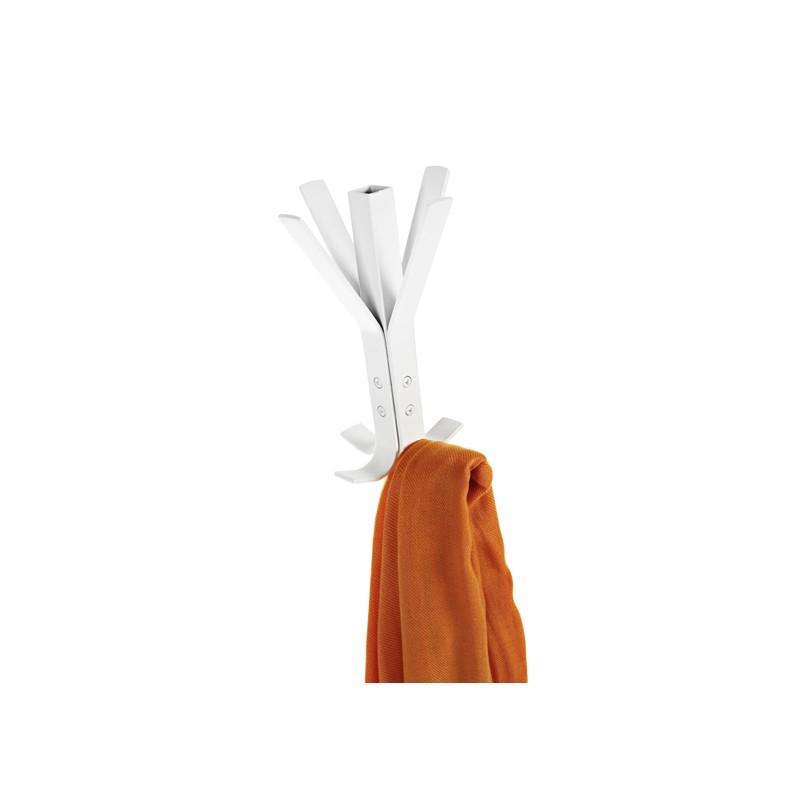 Perchero met lico tubo cuadrado 8 perchas color blanco for Percheros metalicos