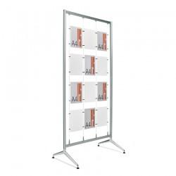 Bastidor Ten de aluminio con niveladores de 90 x 212 cm.