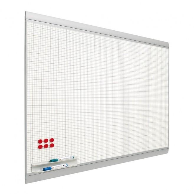 Pizarra blanca cuadriculada Zénit Acero Vitrificado Mural 45 x 60 cm.