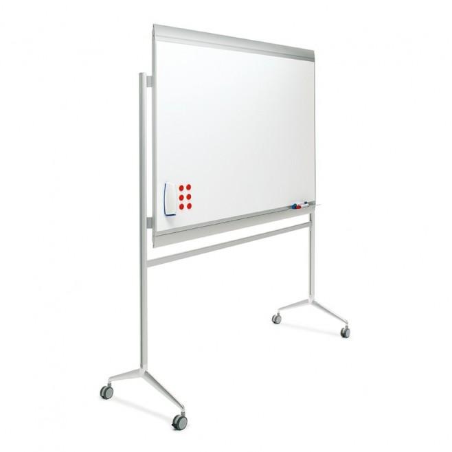 Pizarra blanca Zénit Acero Vitrificado 100 x 120 cm. + soporte Y2