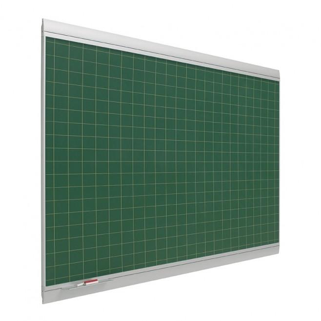 Pizarra verde cuadriculada Zénit Acero Vitrificado Mural 120 x 300 cm.