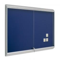 Vitrina tapizada Zénit marco aluminio 60 x 80 cm