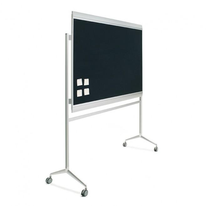 Tablero tapizado Zénit marco aluminio 100 x 200 cm + soporte Y2