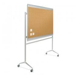 Tablero fondo corcho Zénit marco aluminio 100 x 200 cm + soporte Y2