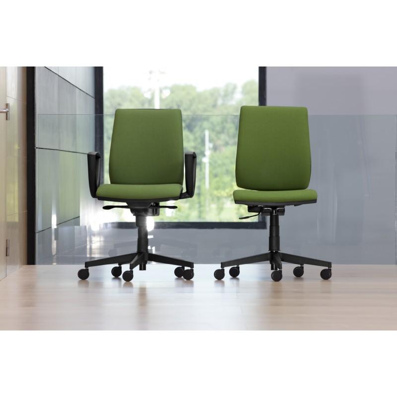 Silla de trabajo respaldo tapizado atenas castilla - Tapizado de silla ...