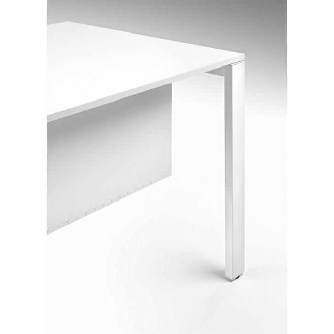 Mesa de trabajo estructura met lica tablero melamina - Estructuras para mesas ...