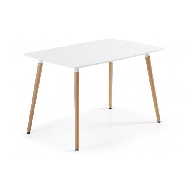 Mesa 4 patas en madera tablero lacado 140x80 castilla - Patas para tableros ...