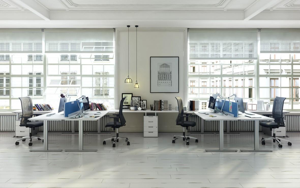 Nueva serie de mesas de trabajo t work de jg group blog for Empleo mobiliario oficina