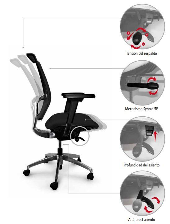 silla de oficina luyando